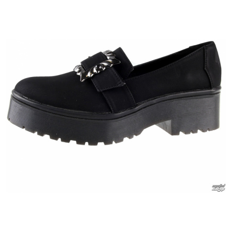 Keilschuhe Frauen - Nocturnal Cleated Sole Flat - IRON FIST - IFW006008-BLACK 40
