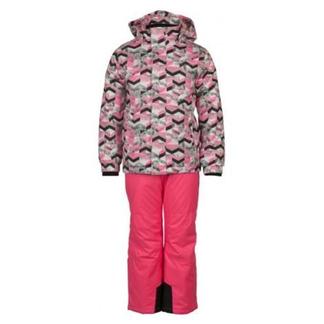 ALPINE PRO BOJORO rosa - Kinder Skiset