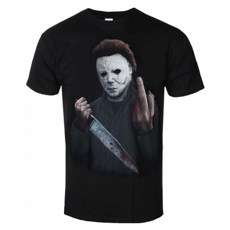 Film T-Shirt Männer Halloween - MIDDLE FINGER - PLASTIC HEAD - PH11722 S