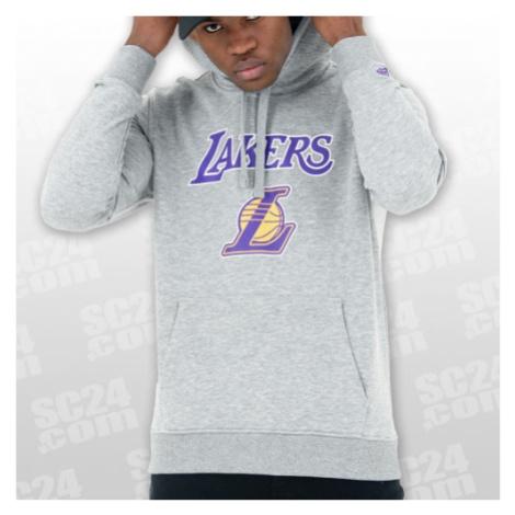 New Era Los Angeles Lakers Team Logo PO Hoody grau/lila Größe L