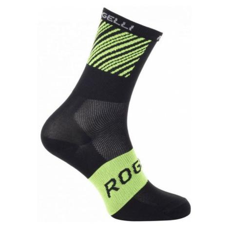 Antibakteriell Socken mit leichten kompression Rogelli RITMO, schwarz-reflektierende yellow 007.