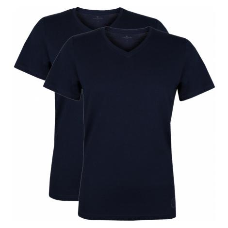 Tom Tailor Herren Basic V-Ausschnitt T-Shirt 100% Baumwolle M L Xl Xxl 3Xl Uni - 2er Pack