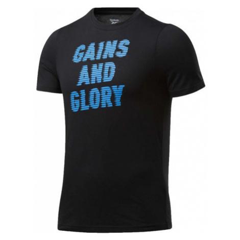 Reebok GS OPP TEE GRAPHIC schwarz - Herrenshirt