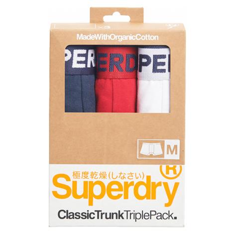 Superdry Boxershorts Dreierpack CLASSIC TRUNK TRIPLE Richest Navy/Rouge Red/Optic Mehrfarbig