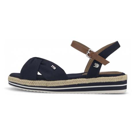 TOM TAILOR DENIM Damen bunte Sandalette, marine