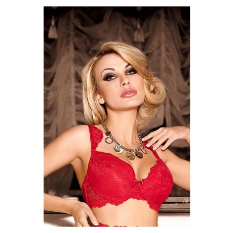 Damen BHs Ambre push up red Róza