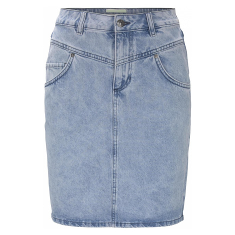 TOM TAILOR DENIM Damen High waist Jeansrock in Mini-Länge, blau