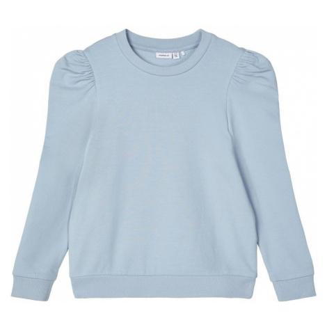 NAME IT Puffärmel Sweatshirt Damen Blau