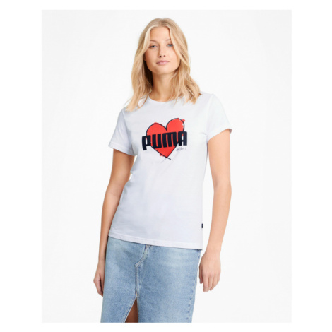 Puma Heart T-Shirt Weiß
