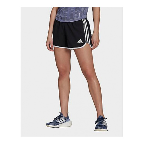 Adidas Marathon 20 Primeblue Running Shorts - Black / White - Damen, Black / White