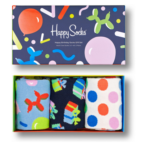 Happy Socks Geschenkbox HAPPY BIRTHDAY SOCKS GIFT SET 3-PACK XBIR08-0150 Mehrfarbig