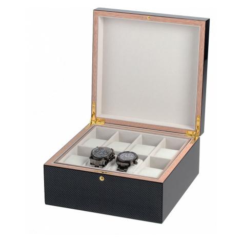 Rothenschild Uhren & Schmuckbox RS-5598-8 für 8 Uhren carbon-grau