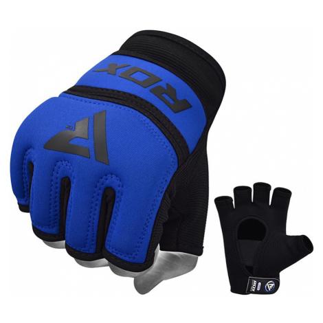 RDX X6 Gel Gepolsterte Innerer Boxhandschuhe Blau