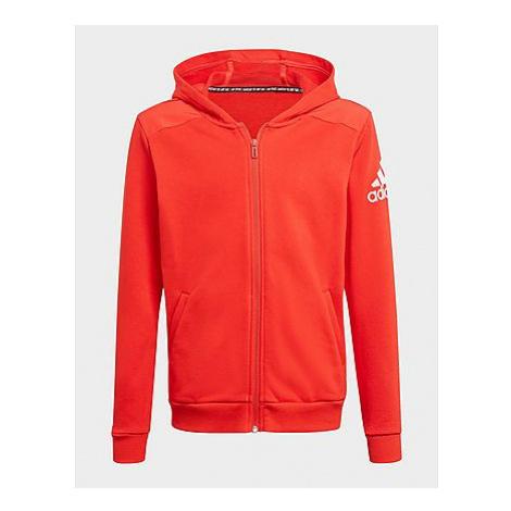Adidas Logo Kapuzenjacke - Vivid Red / White, Vivid Red / White