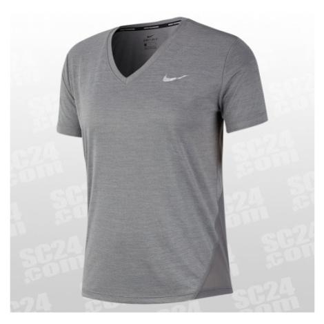 Nike Miler V-Neck Top Women grau Größe S