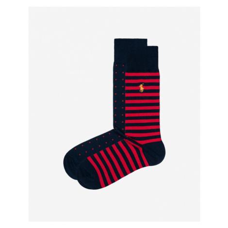 Polo Ralph Lauren Socken 2 Paar Blau Rot