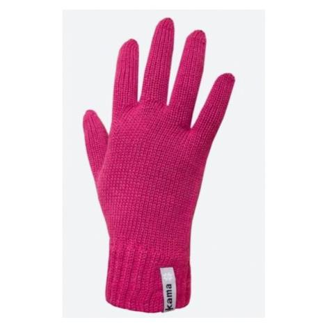 Gestrickte Merino Handschuhe Kama R101 114 pink