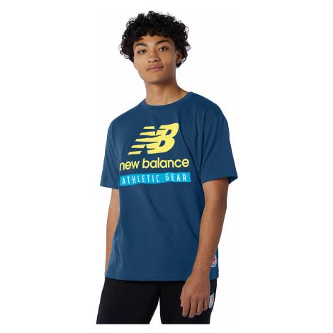 New Balance T-Shirt Herren ESSENTIALS TEE MT11517 CNB Blau