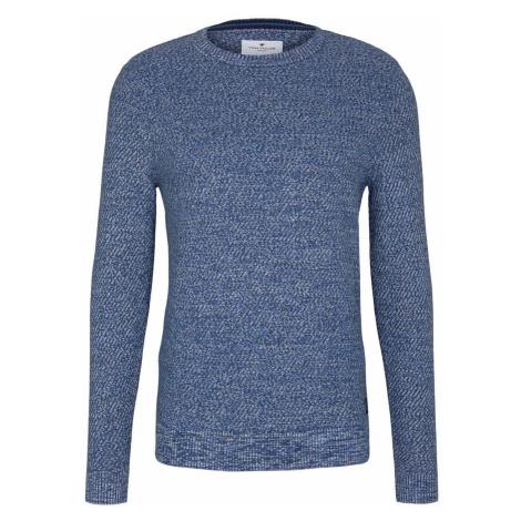 TOM TAILOR Herren Basic Strickpullover mit Bio-Baumwolle, blau