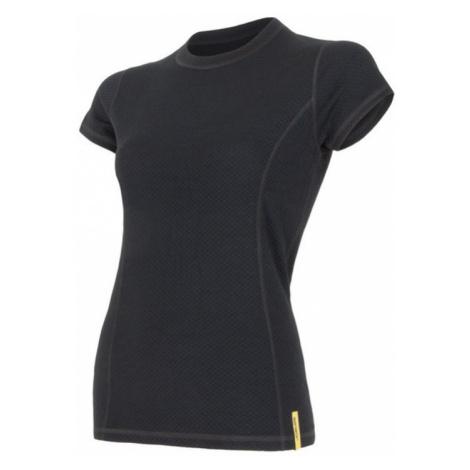 Damen T-Shirt Sensor MERINO DOUBLE FACE black 15100017