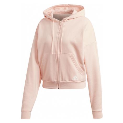 Rosa sportsweatshirts mit reißverschluss für damen