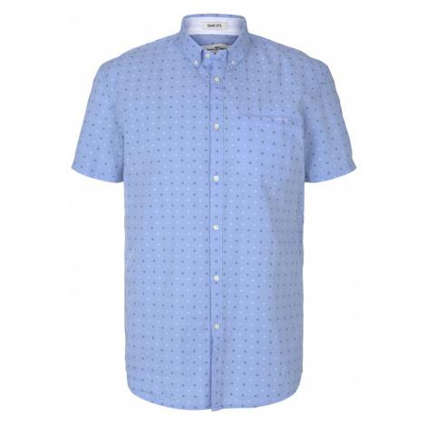 TOM TAILOR DENIM Herren kurzärmliges Hemd, blau