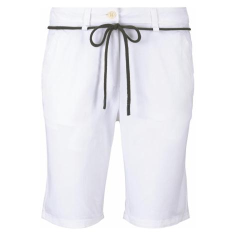 TOM TAILOR Damen Chino Relaxed Bermuda Shorts, weiß, unifarben
