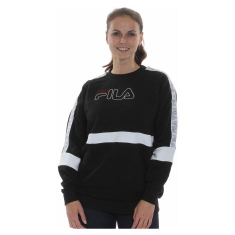 Fila Sweater Damen JACKI TAPED CREW SWEAT 683282 E09 Black-Bright White Schwarz