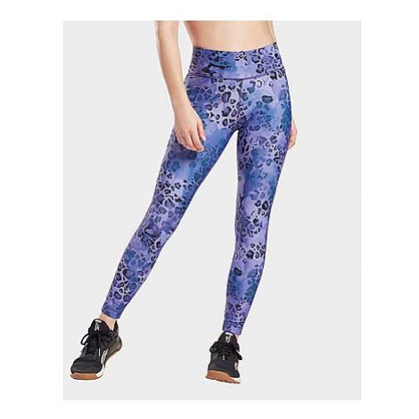 Reebok modern safari lux bold leggings - Vector Navy / Hyper Purple - Damen, Vector Navy / Hyper