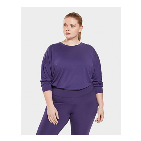 Reebok workout ready supremium long-sleeve shirt (plus size) - Dark Orchid - Damen, Dark Orchid