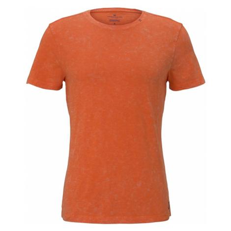 TOM TAILOR Herren T-Shirt im Washed-Look, orange