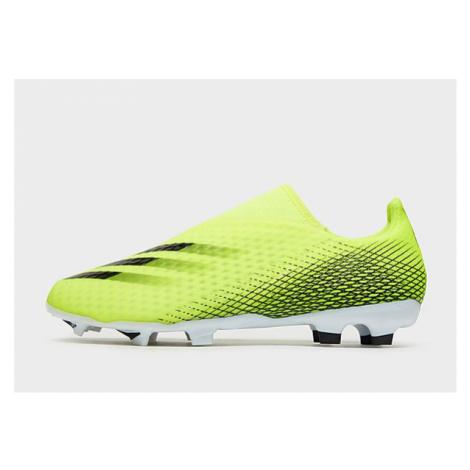 Adidas X Ghosted.3 Laceless FG Fußballschuh - Solar Yellow / Core Black / Royal Blue - Herren, S