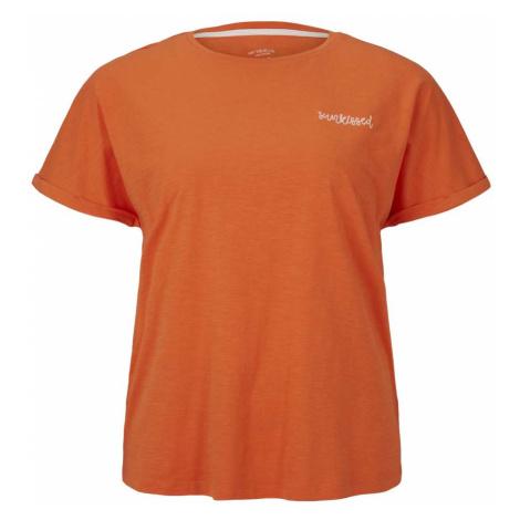 TOM TAILOR MY TRUE ME Damen T-Shirt mit Bio-Baumwolle , orange