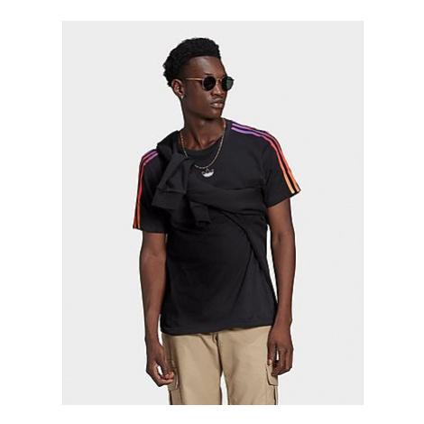 Adidas Originals SPRT 3-Streifen T-Shirt - Black / Multicolor - Herren, Black / Multicolor