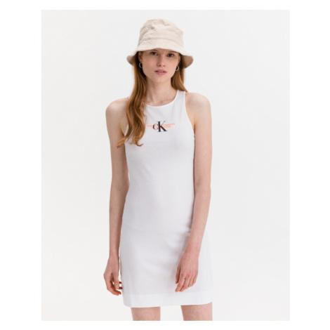 Calvin Klein Urban Logo Kleid Weiß