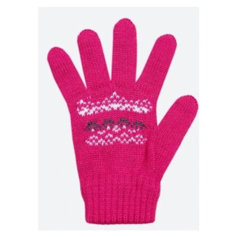 Kinder gestrickte Merino Handschuhe Kama RB203 114