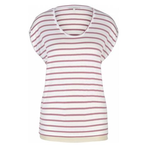TOM TAILOR DENIM Damen Gestreiftes T-Shirt im Loose-Fit, rosa