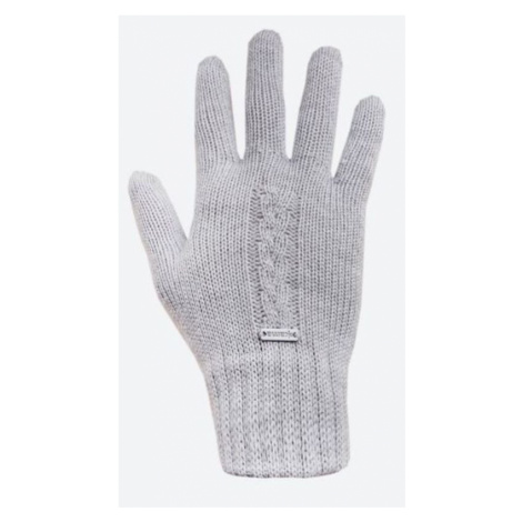 Gestrickte Merino Handschuhe Kama R103 109 light grey