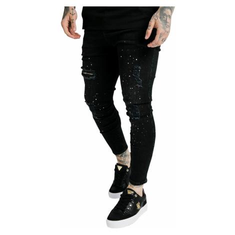 SikSilk Jeans Herren SKINNY DISTRESSED RIOT DENIMS SS-18024 Black