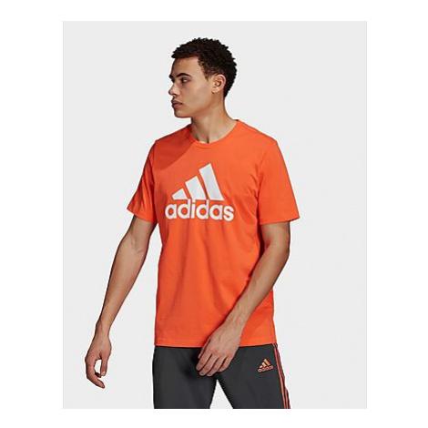 Adidas Essentials Big Logo T-Shirt - True Orange / White - Herren, True Orange / White