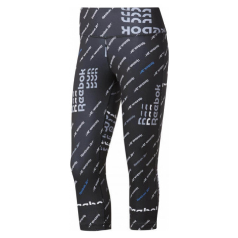 Reebok WORKOUT AOP CAPRI schwarz - Damen Leggings