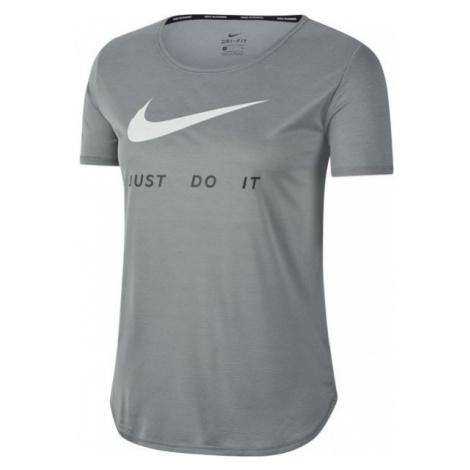 Nike TOP SS SWSH RUN W grau - Damen Sportshirt