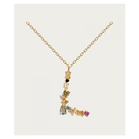 PD Paola Buchstabe L Halskette Gold