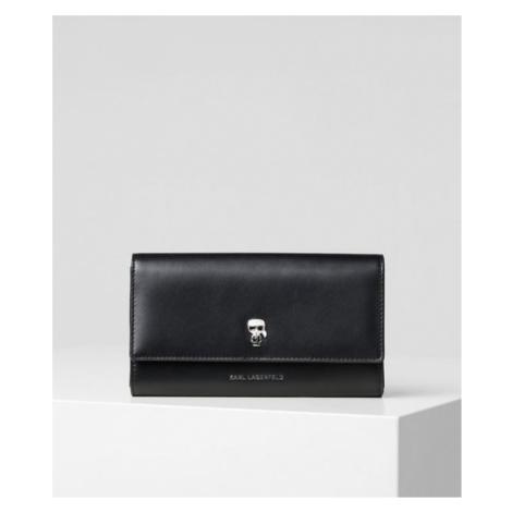 K/Ikonik Geldbörse mit Anstecker auf der Klappe Karl Lagerfeld