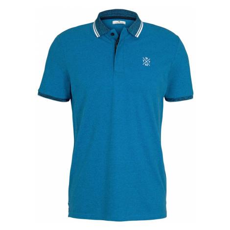 TOM TAILOR Herren Poloshirt mit Logoprint, blau