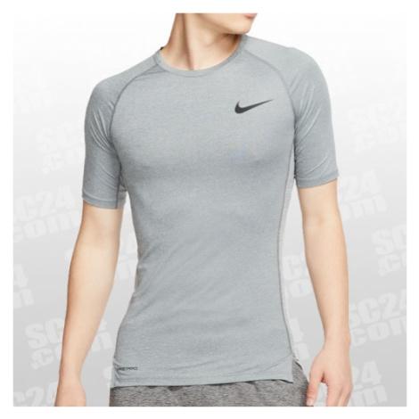 Nike Pro Tight Top SS grau Größe XXL