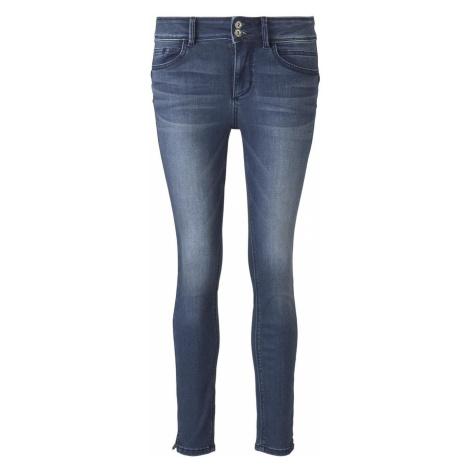 TOM TAILOR Damen Alexa Skinny Contour Jeans in Ankle-Länge, braun