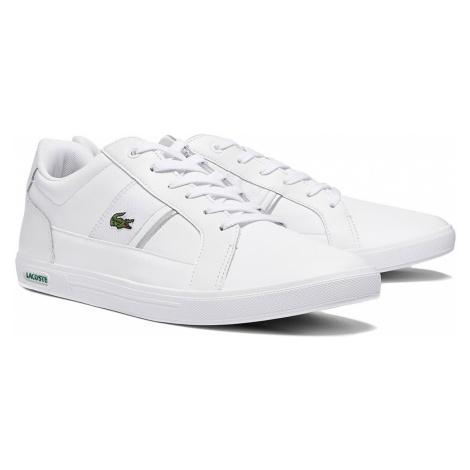 Lacoste Herren Sneaker EUROPA 0721 1 SMA 7-41SMA00082A7 WHT/GRY Weiss Grau