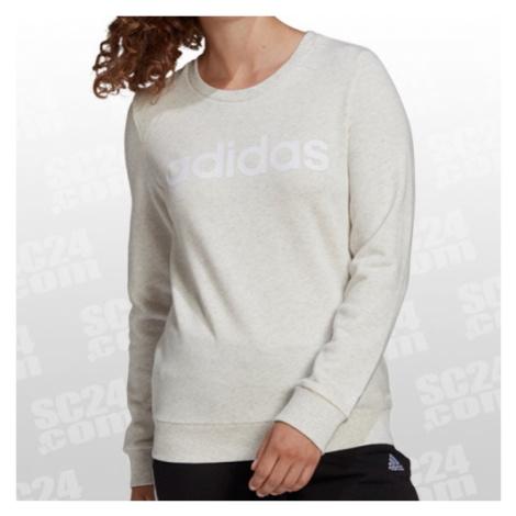 Adidas Essentials Linear Sweatshirt Women beige/weiss Größe XS