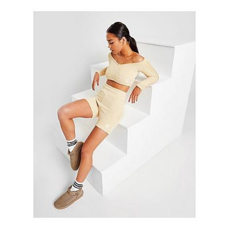 Adidas Originals 3-Stripes Boucle Knit Shorts Damen - Hazy Beige - Damen, Hazy Beige